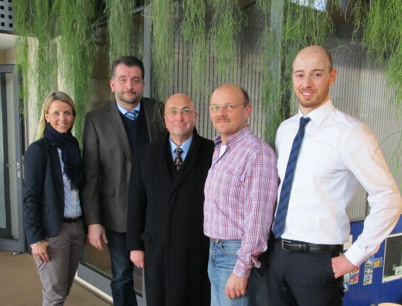 v.l. Nathalie Hertrich, Stefan Weber, Ministerialrat Stefan Fuchs, Thomas Schulte, Denis Sohlbach